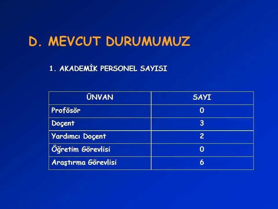 D.MEVCUT DURUMUMUZ 2.