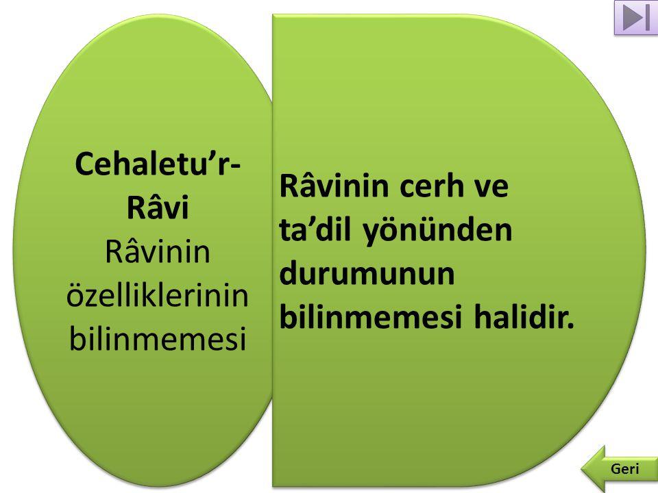 Bid'atu'r- Râvi Râvinin bid'at ehlinden olması Bid'atu'r- Râvi Râvinin bid'at ehlinden olması Geri Râvinin İslam dininin genel prensiplerine aykırı görüşler ileri sürmesidir.