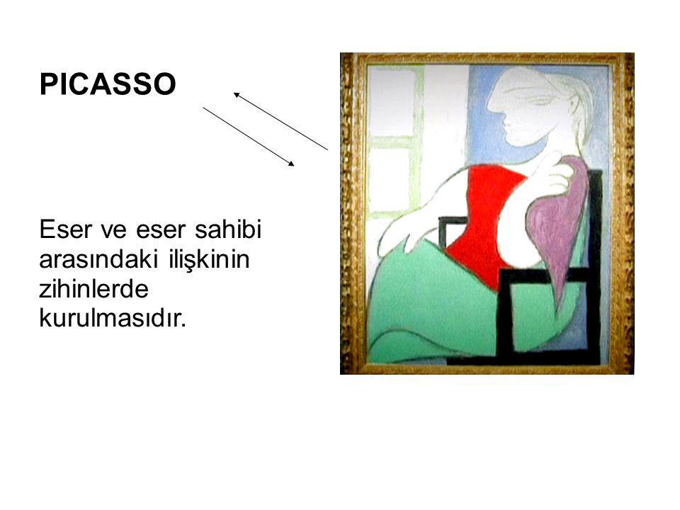 PICASSO Eser ve eser sahibi arasındaki ilişkinin zihinlerde kurulmasıdır.