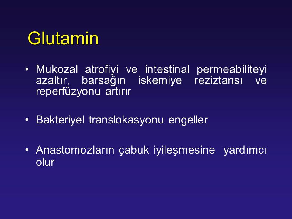 Mukozal atrofiyi ve intestinal permeabiliteyi azaltır, barsağın iskemiye reziztansı ve reperfüzyonu artırır Bakteriyel translokasyonu engeller Anastom