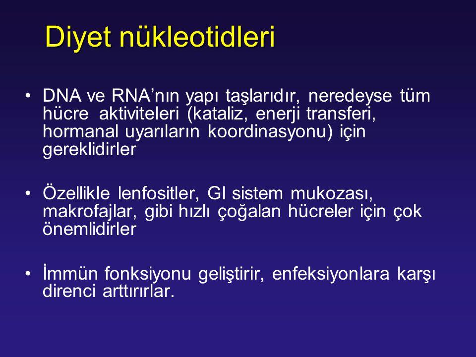 DNA ve RNA'nın yapı taşlarıdır, neredeyse tüm hücre aktiviteleri (kataliz, enerji transferi, hormanal uyarıların koordinasyonu) için gereklidirler Öze