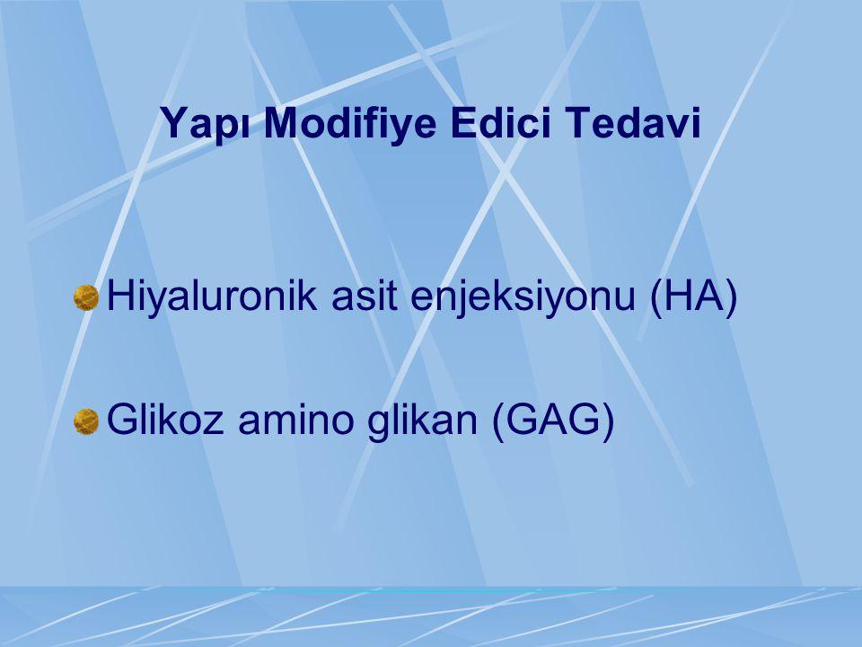 Yapı Modifiye Edici Tedavi Hiyaluronik asit enjeksiyonu (HA) Glikoz amino glikan (GAG)