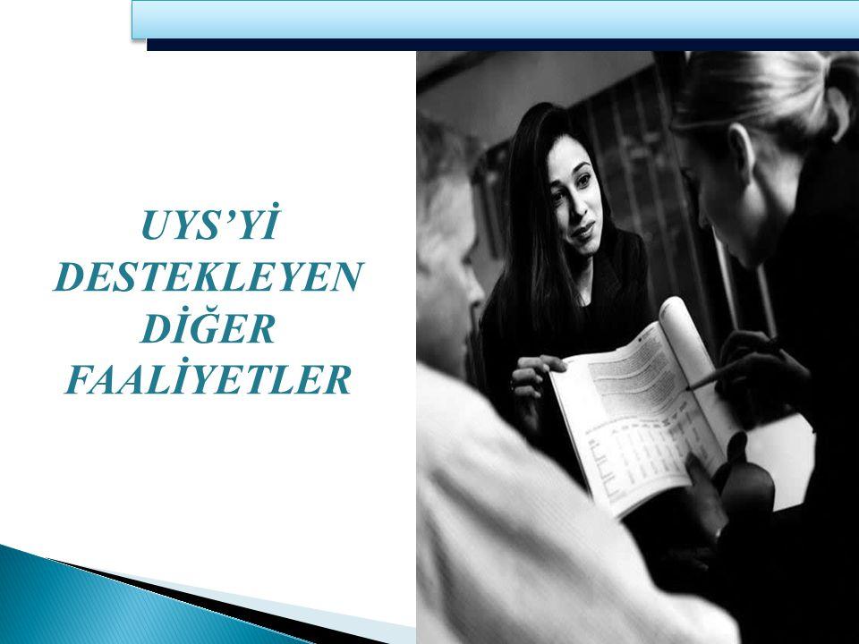 UYS'Yİ DESTEKLEYEN DİĞER FAALİYETLER 21