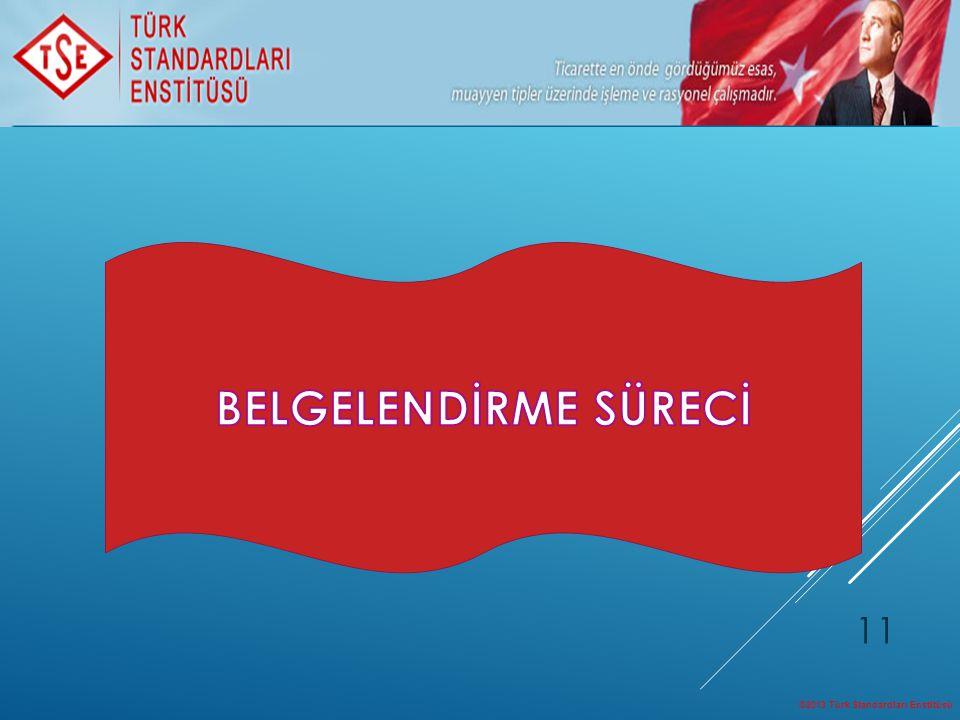 ©2013 Türk Standardları Enstitüsü 11