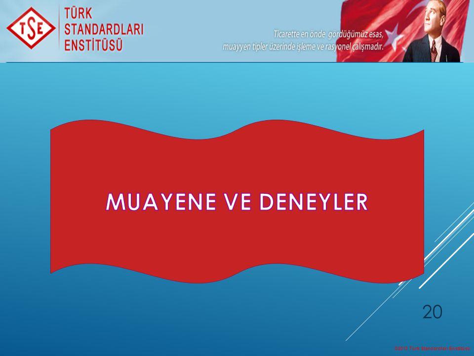 ©2013 Türk Standardları Enstitüsü 20