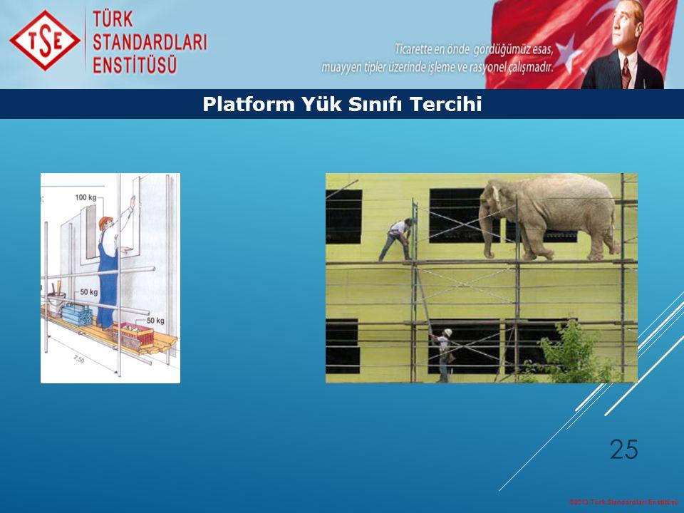 ©2013 Türk Standardları Enstitüsü 25 Platform Yük Sınıfı Tercihi