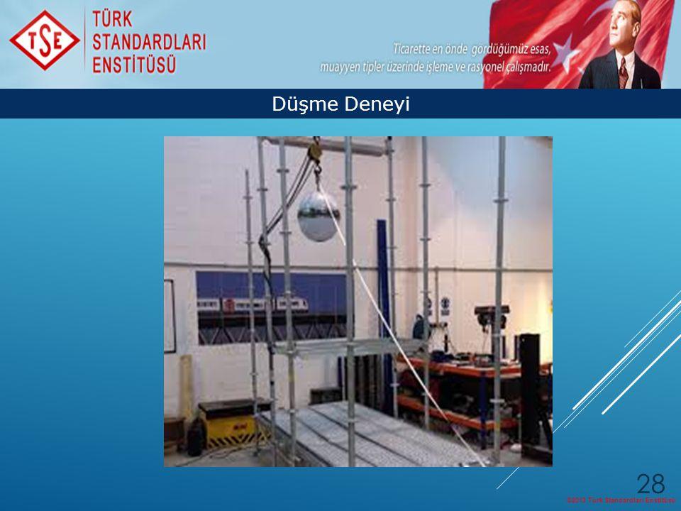 ©2013 Türk Standardları Enstitüsü 28 Düşme Deneyi