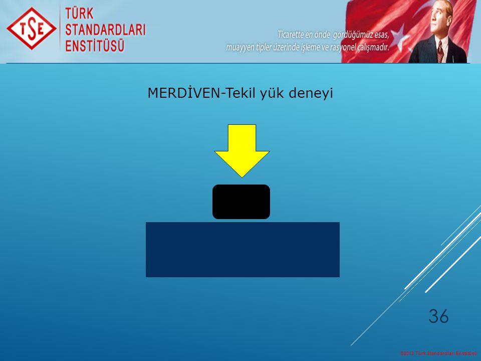 ©2013 Türk Standardları Enstitüsü 36 MERDİVEN-Tekil yük deneyi