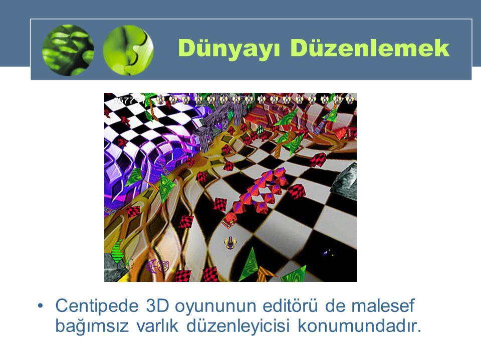 Dünyayı Düzenlemek Centipede 3D oyununun editörü de malesef bağımsız varlık düzenleyicisi konumundadır.
