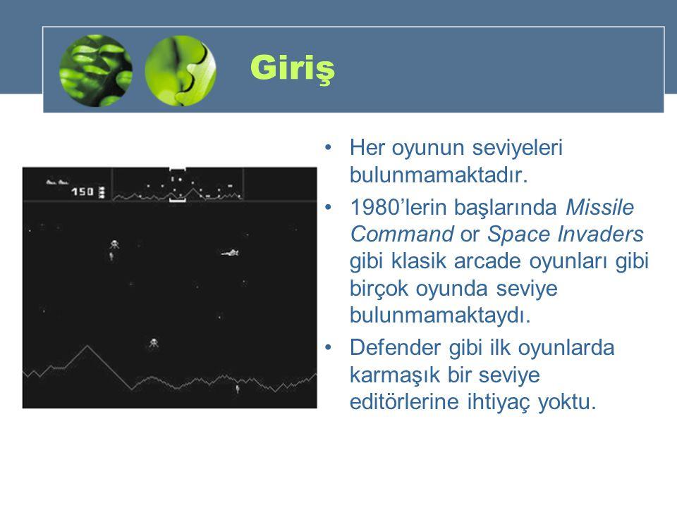 Giriş Her oyunun seviyeleri bulunmamaktadır. 1980'lerin başlarında Missile Command or Space Invaders gibi klasik arcade oyunları gibi birçok oyunda se