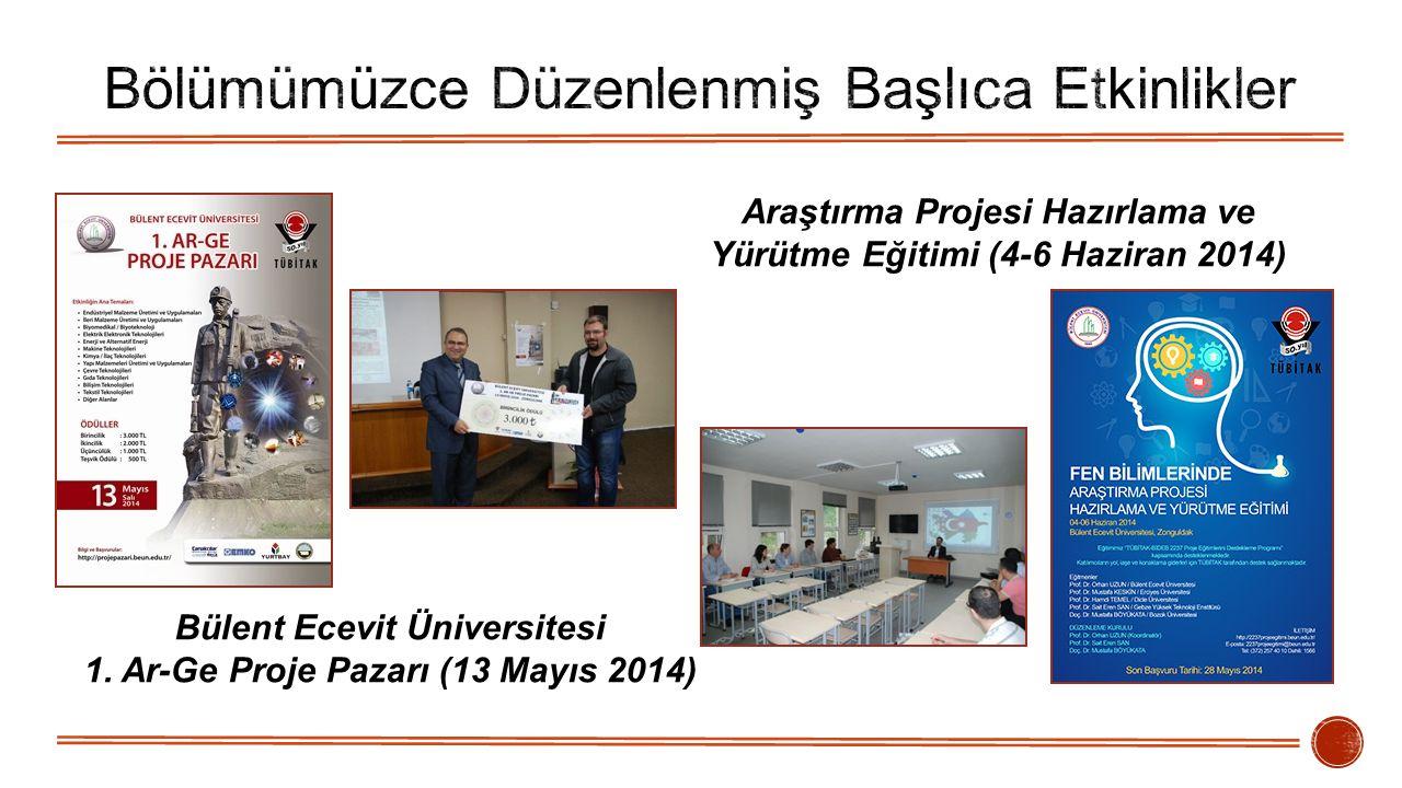Bülent Ecevit Üniversitesi 1. Ar-Ge Proje Pazarı (13 Mayıs 2014) Araştırma Projesi Hazırlama ve Yürütme Eğitimi (4-6 Haziran 2014)