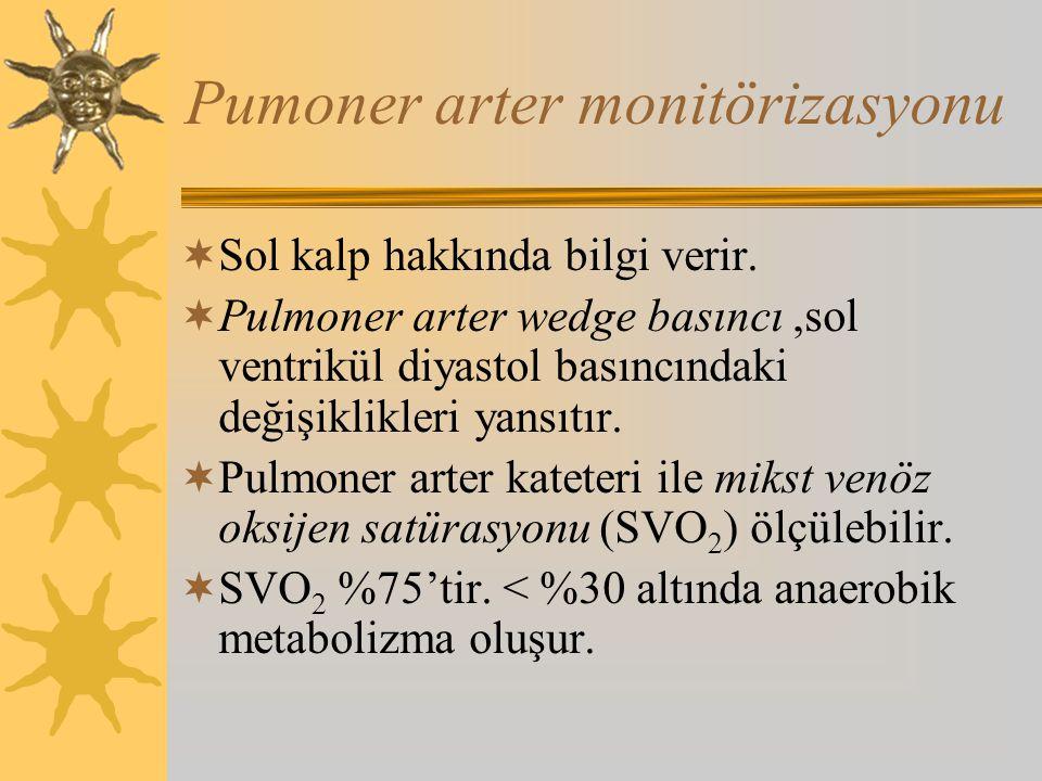Pumoner arter monitörizasyonu  Sol kalp hakkında bilgi verir.