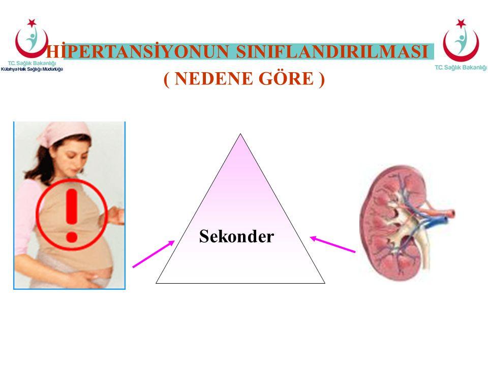 Sekonder HİPERTANSİYONUN SINIFLANDIRILMASI ( NEDENE GÖRE )