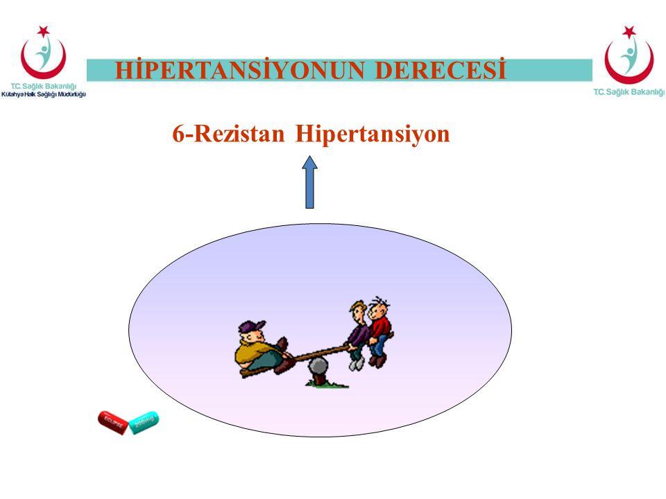 6-Rezistan Hipertansiyon HİPERTANSİYONUN DERECESİ