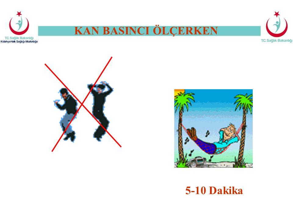 KAN BASINCI ÖLÇERKEN 5-10 Dakika