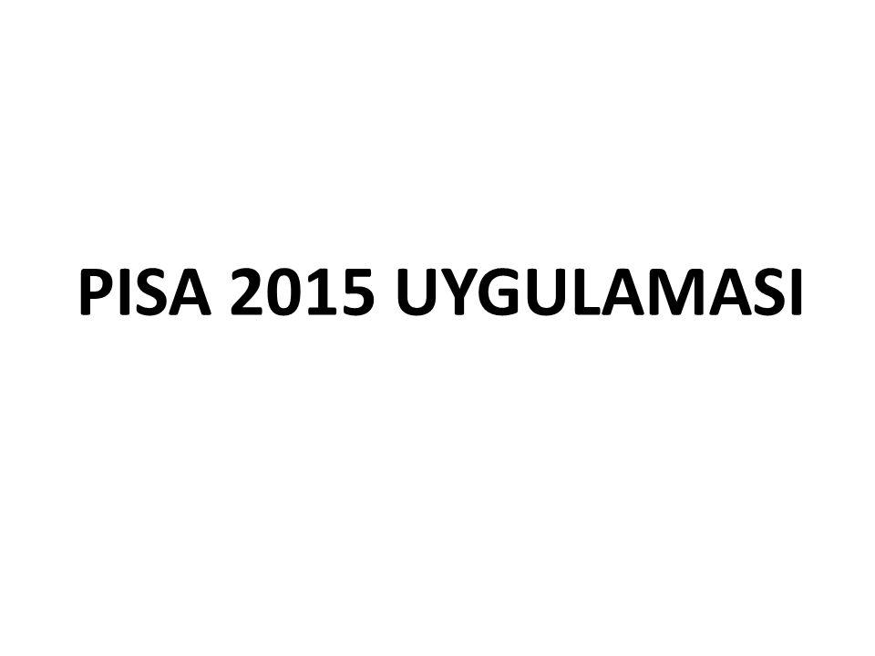PISA 2015 UYGULAMASI