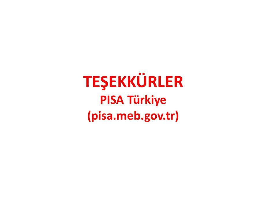 TEŞEKKÜRLER PISA Türkiye (pisa.meb.gov.tr)