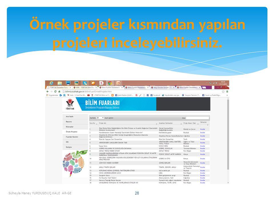 Süheyla Haney YURDUSEV/Ç.KALE AR-GE 28 Örnek projeler kısmından yapılan projeleri inceleyebilirsiniz.