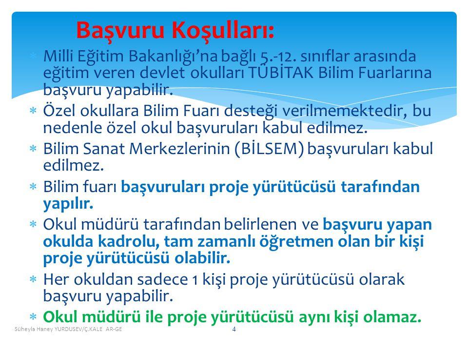 Başvuru Koşulları:  Milli Eğitim Bakanlığı'na bağlı 5.-12.
