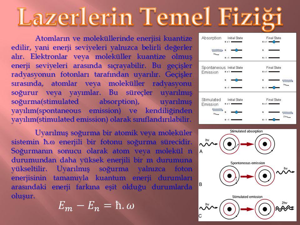 Lazerlerin temelini ve onun uygulamalarını anlamak için radyasyonun madde ile etkileşmesini anlamak gereklidir. Radyasyon, uzun dalga boylarından kısa