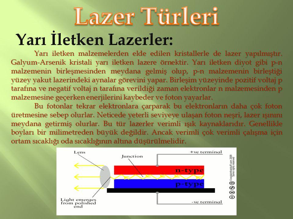 İlk bulunan lazer yakut lazeridir. Yakut, az miktarda krom ihtiva eden alüminyum oksit kristalidir. Kırmızı lazer ışınları yayan, bu kristal içindeki