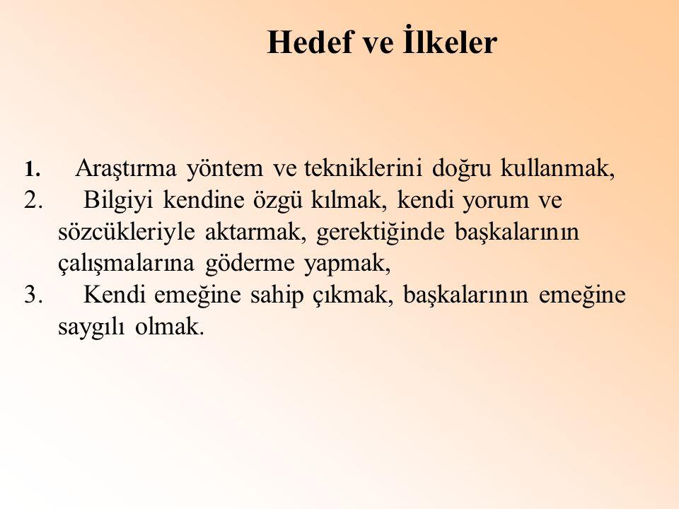 KAÇINILMASI GEREKEN DAVRANIŞLAR 1.