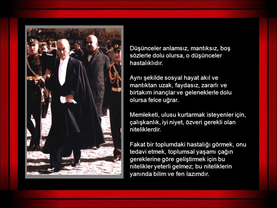 """""""YURTTA BARIŞ, DÜNYADA BARIŞ"""" ilkesinden ödün vermeksizin, yurdunu savunan ve özgürlüğünden vazgeçmemek için cihana meydan okuyan bir liderdi O..."""