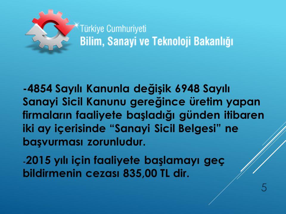 -İlimizde Sanayi Sicil Belgesine sahip 2632 firma bulunmaktadır. 16