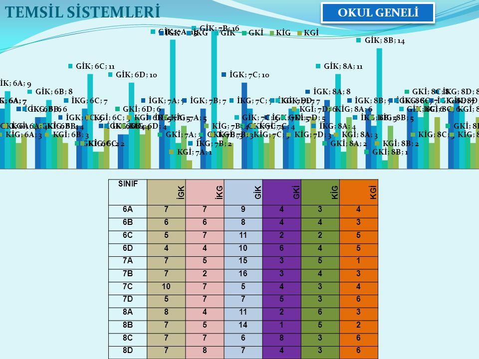 8-A SINIFI TEMSİL SİSTEMLERİ