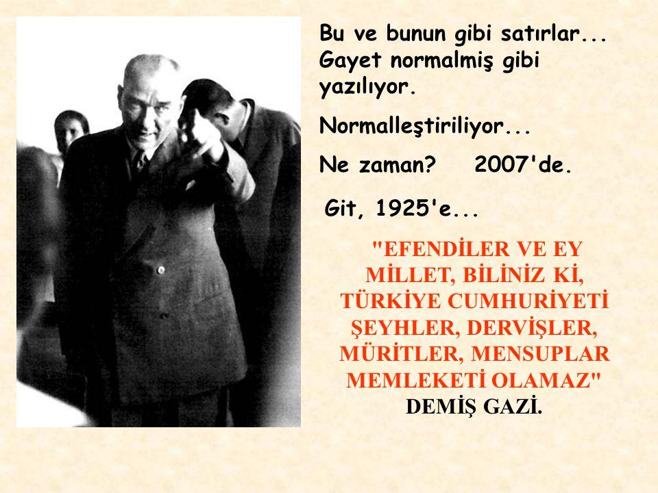 Süleymancılar, iki biradermiş... Biri, AKP milletvekili; gene aday... Diğeri, Demokrat Parti'den milletvekili adayı; daha önce Refah'tan milletvekili,
