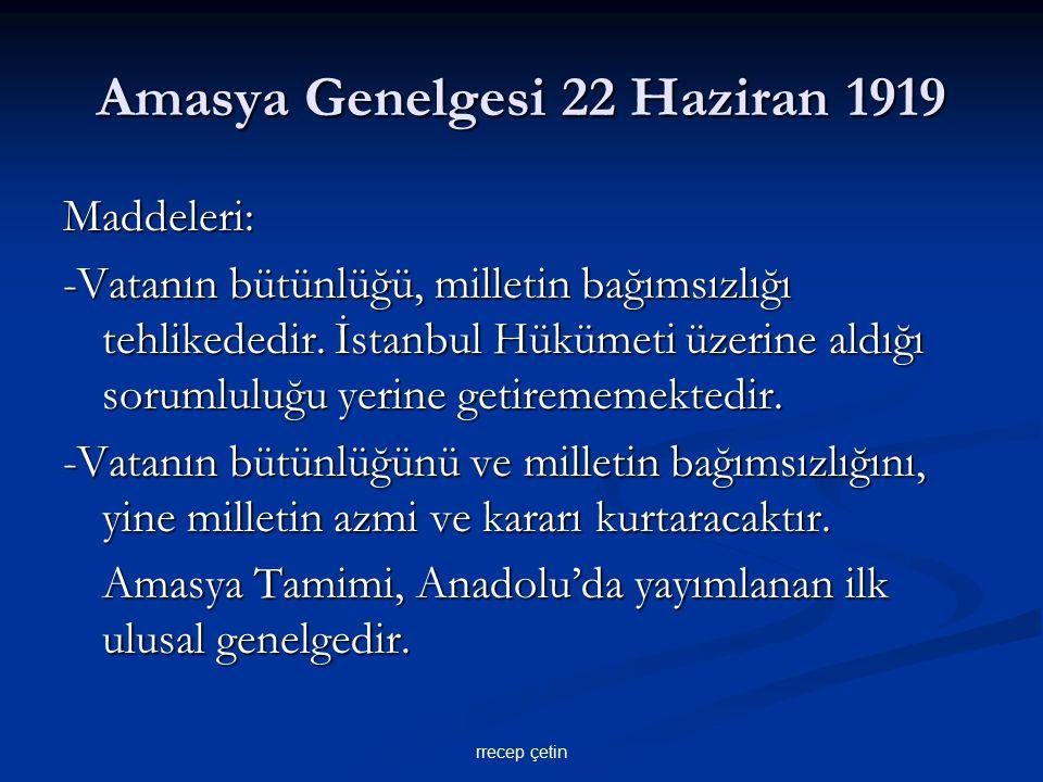 Erzurum Kongresi 23 Temmuz-7 Ağustos 1919 -Ulusal sınırlar içinde vatan bir bütündür, parçalanamaz.
