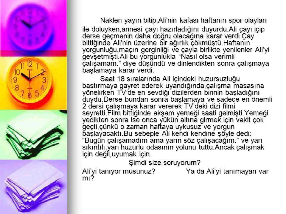 ALİ'Yİ TANIYOR MUSUNUZ.
