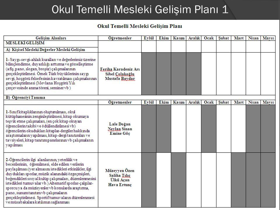 Okul Temelli Mesleki Gelişim Planı 2