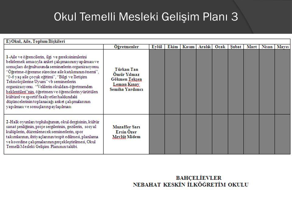Okul Temelli Mesleki Gelişim Planı 3