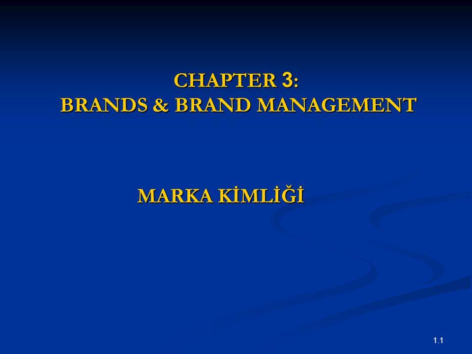 1.1 CHAPTER 3 : BRANDS & BRAND MANAGEMENT MARKA KİMLİĞİ
