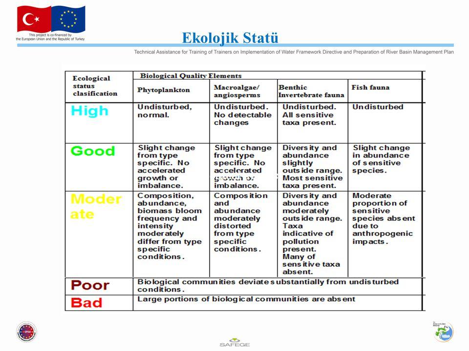 Ecological status Ekolojik Statü