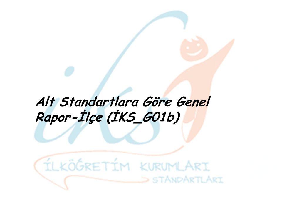 Alt Standartlara Göre Genel Rapor-İlçe (İKS_G01b)