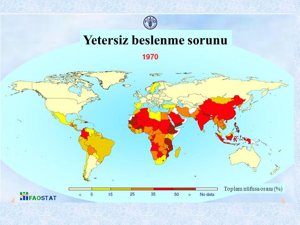 Yetersiz beslenme sorunu Toplam nüfusa oranı (%)
