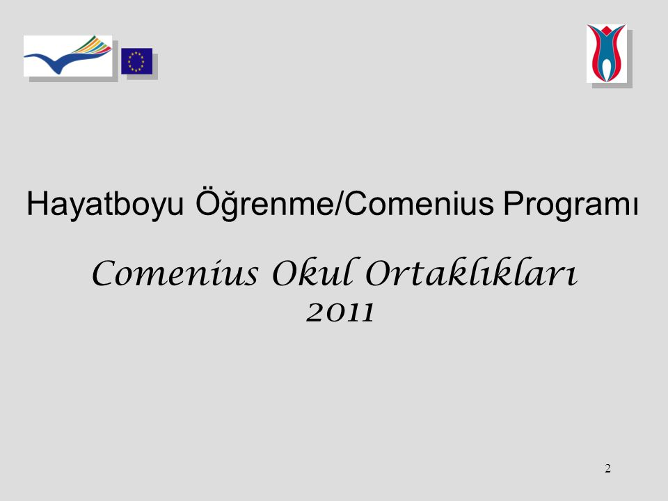 2 Hayatboyu Öğrenme/Comenius Programı Comenius Okul Ortaklıkları 2011