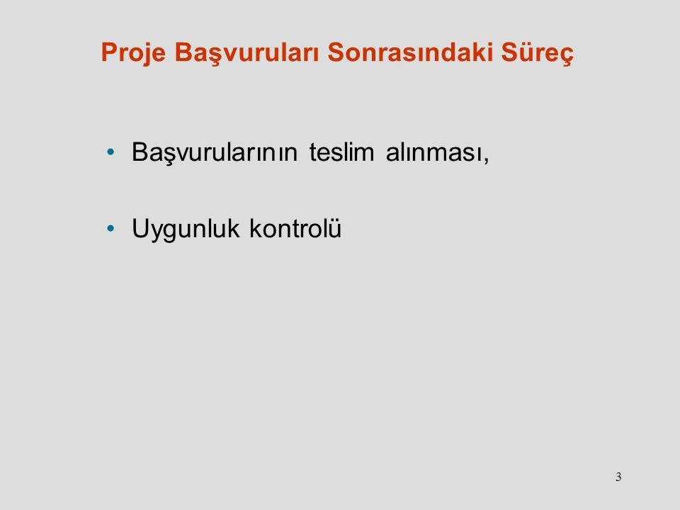 4 Proje Başvuruları Sonrasındaki Süreç Uygunluk kontrolünü geçen başvurular için: Koordinatörü Türkiye olan projeler için bağımsız dış uzmanlar (2 ayrı uzman) tarafından kalite değerlendirmesi