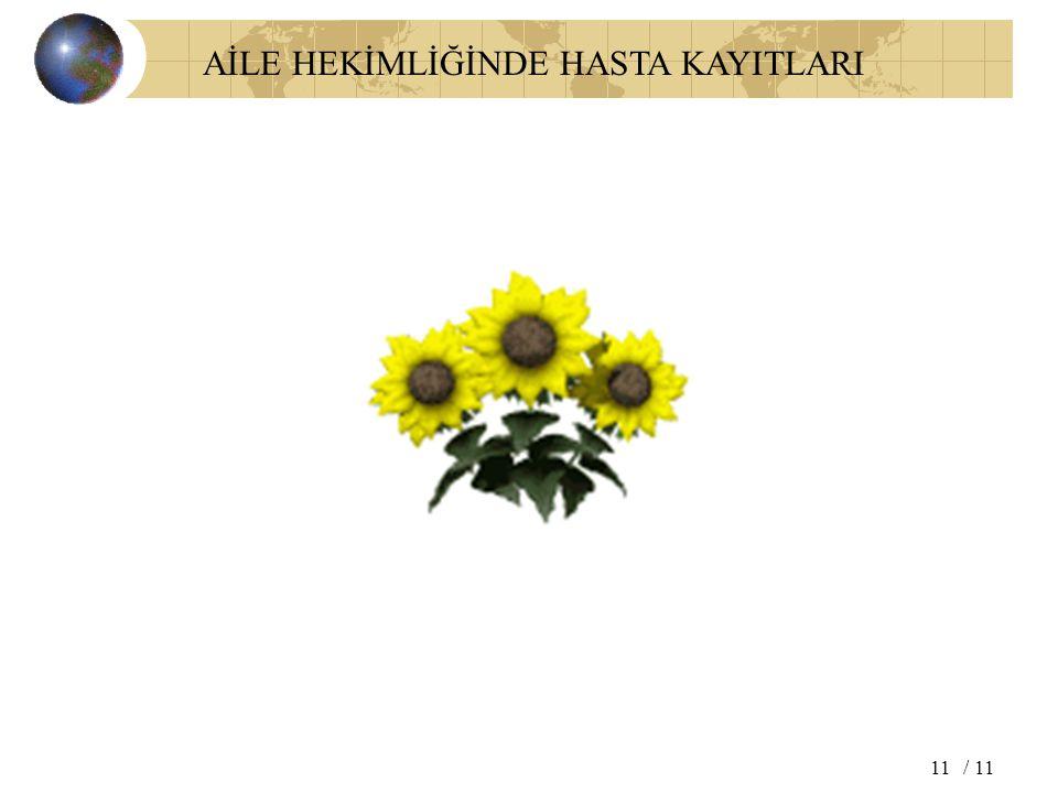 AİLE HEKİMLİĞİNDE HASTA KAYITLARI / 1111
