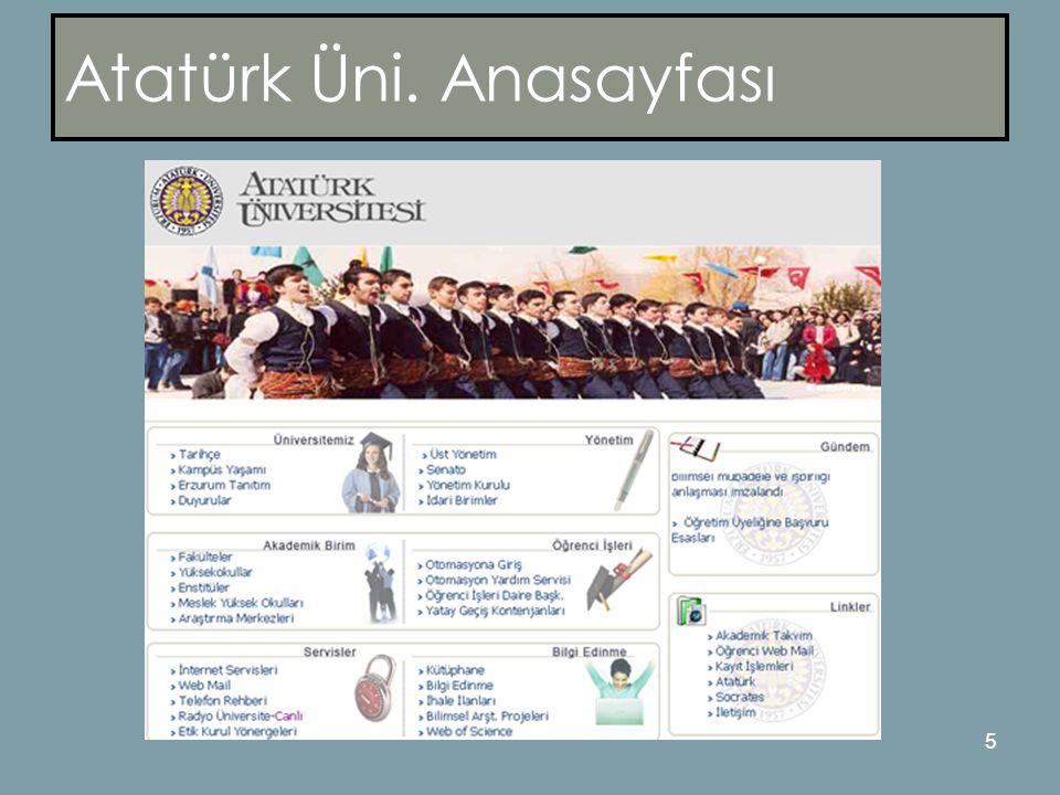 5 Atatürk Üni. Anasayfası