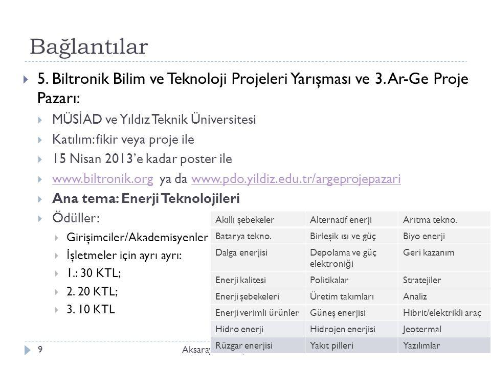Bağlantılar Aksaray Üniv., İ şletme Bölümü, ISLD 5149  5.