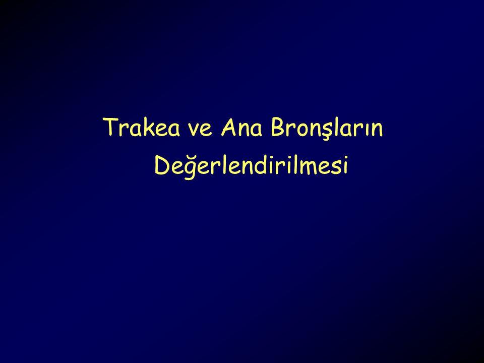 Trakea ve Ana Bronşların Değerlendirilmesi