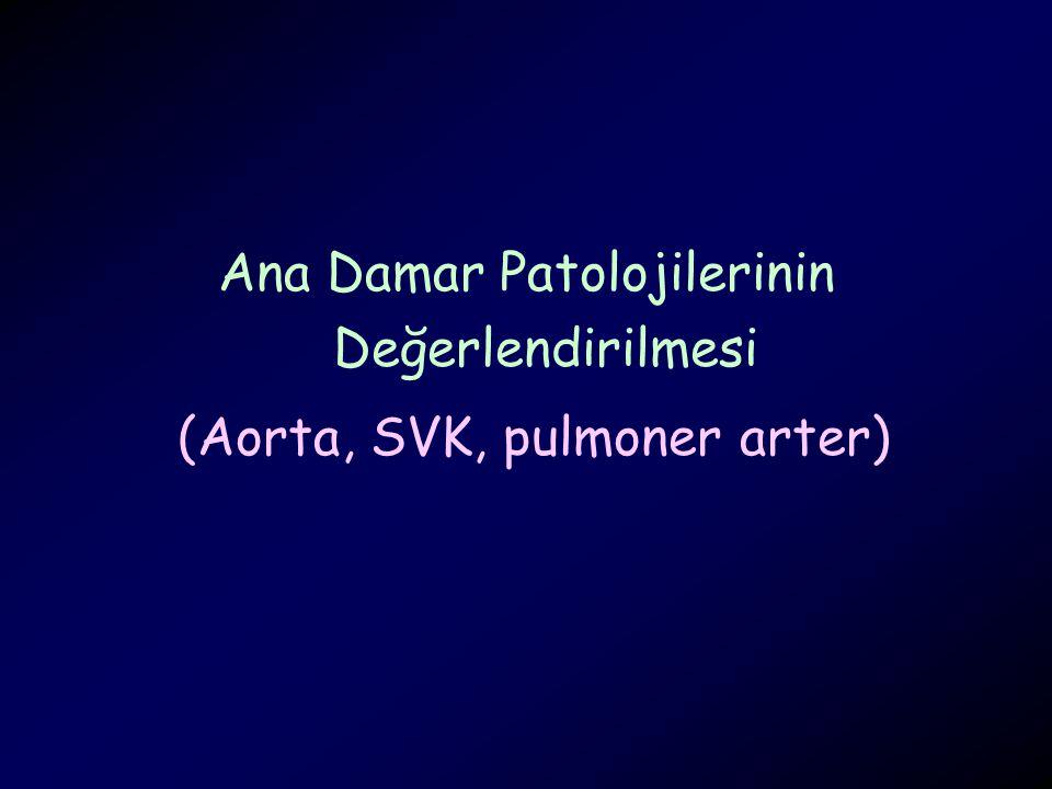 Ana Damar Patolojilerinin Değerlendirilmesi (Aorta, SVK, pulmoner arter)