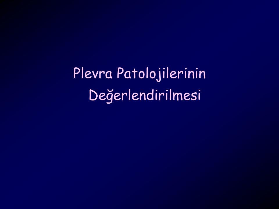 Plevra Patolojilerinin Değerlendirilmesi