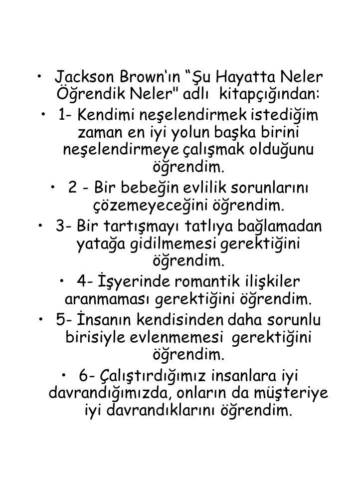 """Jackson Brown'ın """"Şu Hayatta Neler Öğrendik Neler"""