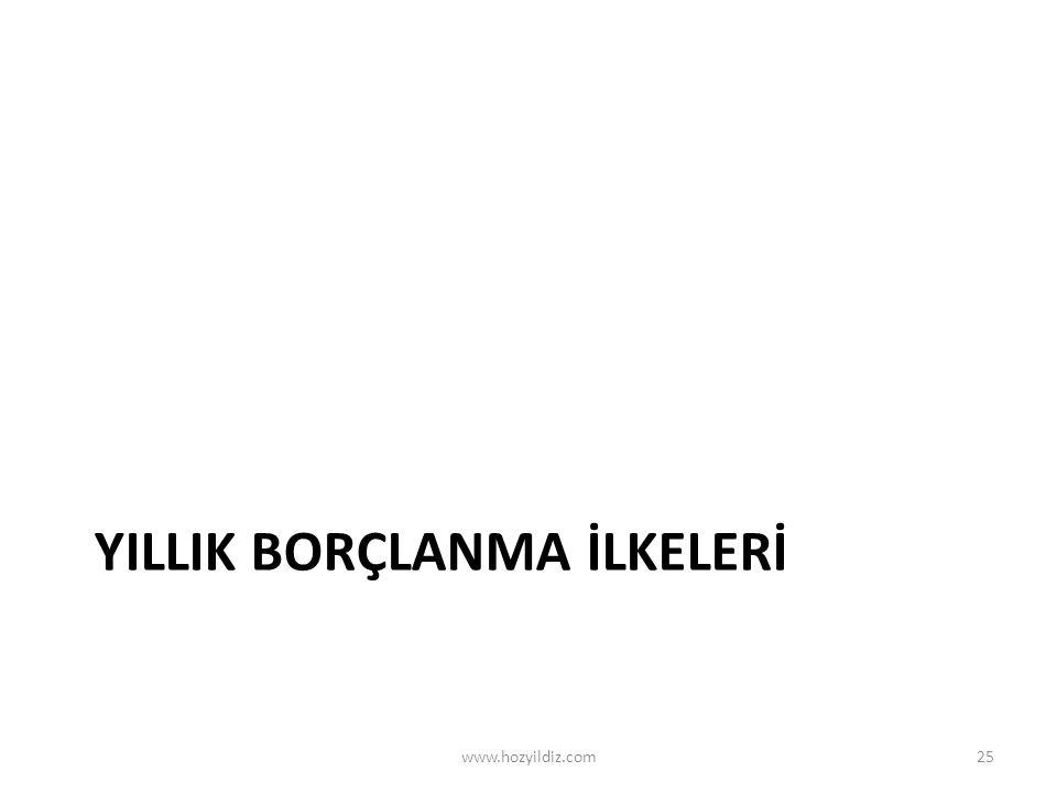 YILLIK BORÇLANMA İLKELERİ www.hozyildiz.com25