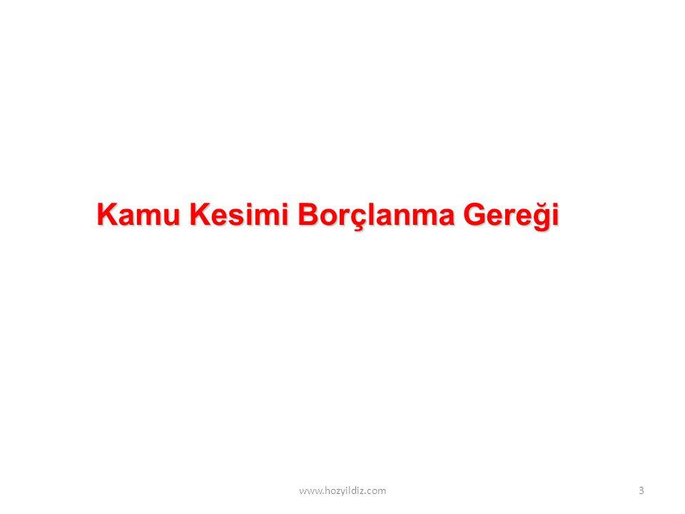 3 Kamu Kesimi Borçlanma Gereği www.hozyildiz.com