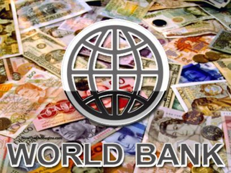 1945 yılında kurulmuş olan Uluslararası İmar ve Kalkınma Bankası'nın (Dünya Bankası) 185 üyesi bulunmaktadır.